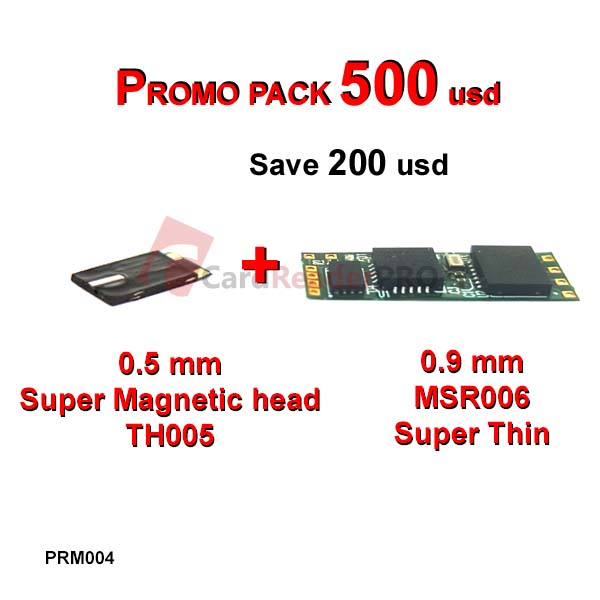 Promo pack MSR006 and 0.5 mm magnetic head PRM004
