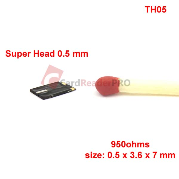 Super thin magnetic head 0.5 mm, 1 track TH05